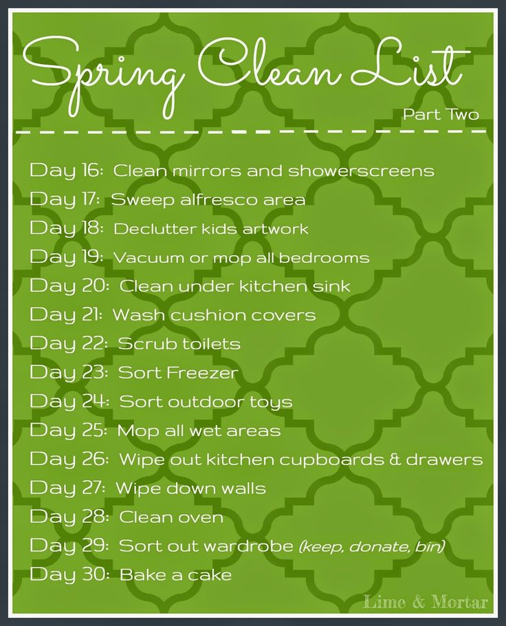 Lime & Mortar: Spring Clean List - Part Two