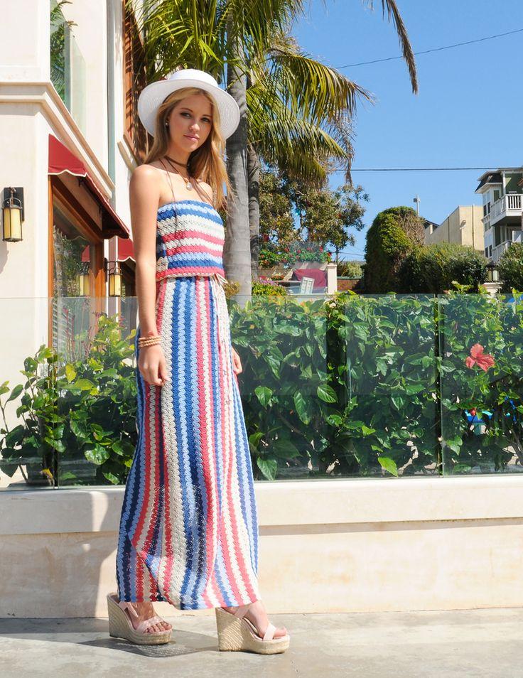 Multi Tube Maxi Dress