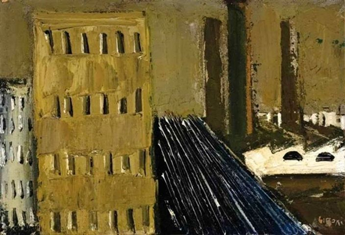 Mario Sironi - Paesaggio urbano, 1940