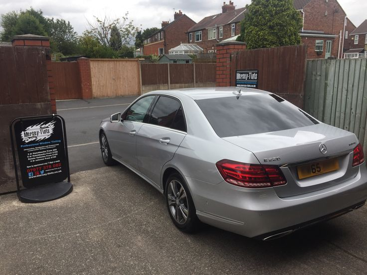 2015 Mercedes E220 in this morning for 5% Carbon Limo tints to the rear #merseytints #suntekcarbon #mercedesbenz