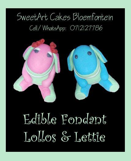 Fondant Lollos & Lettie (Bloemfontein cake & cupcakes)