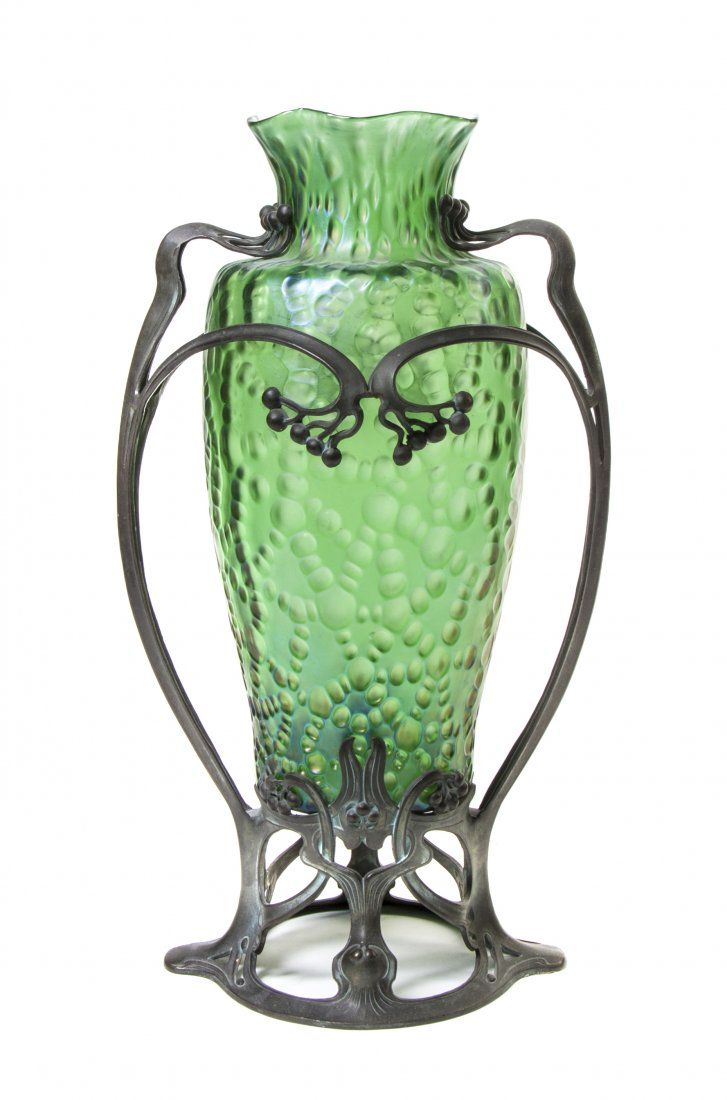 5202 best loetz images on pinterest art nouveau glass art and an art nouveau loetz green glass and patinated metal mounted vase of ovoid form with reviewsmspy