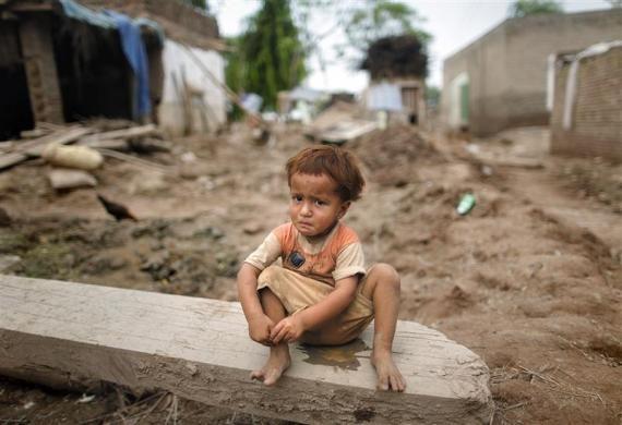 Victim of the floods in Pakistan