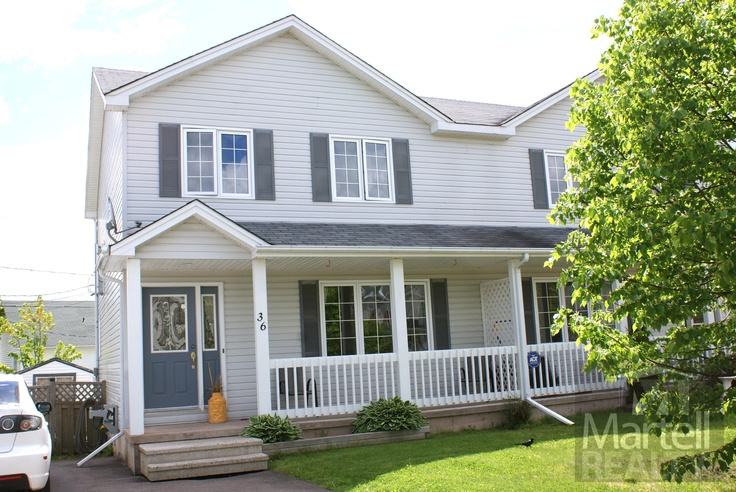** New Listing *** Welcome to 36 Sheffield on a quiet north Moncton cul-de-sac. The double paved driveway leaves lots of room to park while the covered front porch and deck provide plenty of space to enjoy the landscaped & fenced yard. Stepping into the tiled foyer you will see the large living room with hardwood floors. The eat-in kitchen has access to the 16x11 deck where you can enjoy the landscaped yard. A powder room with laundry hookups complete this floor.