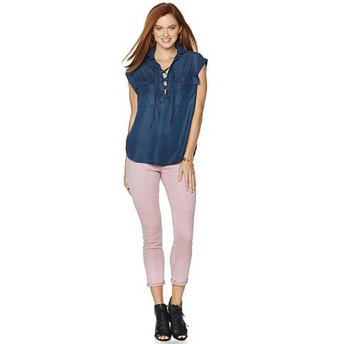 """Jessica Simpson """"Cress"""" Shirt - Leeds"""