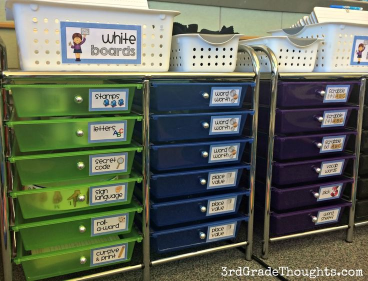 Organizing Word Work Centers into drawers for use the whole year long #daily5 #organization #wordwork