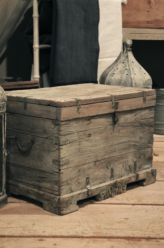 Rustic but elegant wooden trunk