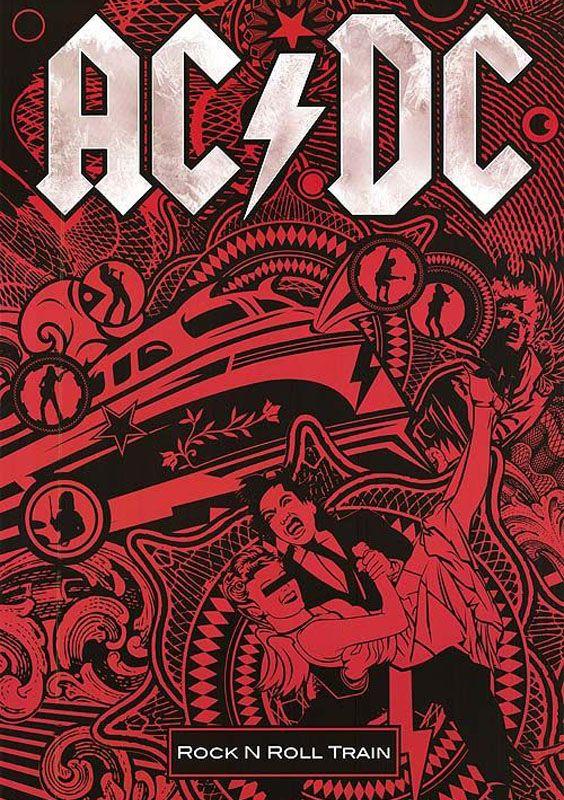 Arte de tapa de Rock N Roll Train de la banda AD/DC