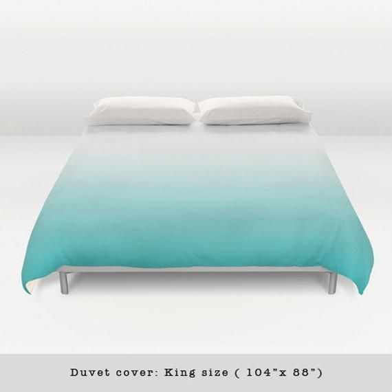 Turquoise Teal Gradient Duvet Cover Amazing And Stylish Addition To Your Bedroom Please Select Which Size Yo Teal Bedding Turquoise Bedding Teal Bedding Sets