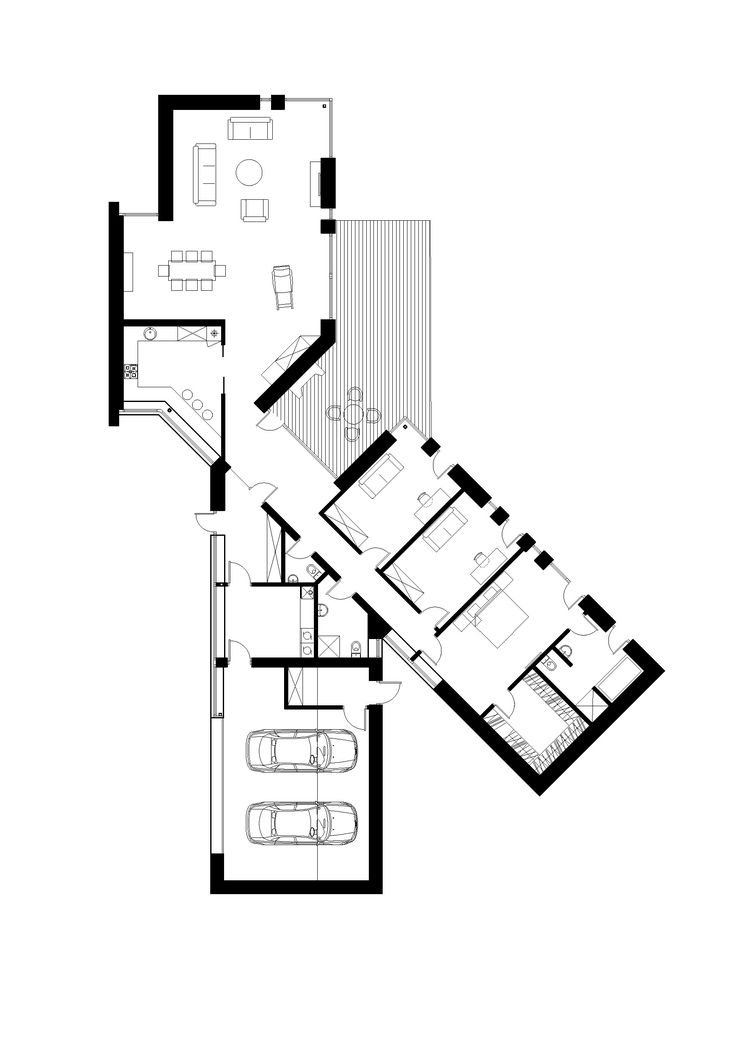 575 best maison images on Pinterest Dream home plans, Future house - plan de maison rectangulaire plain pied