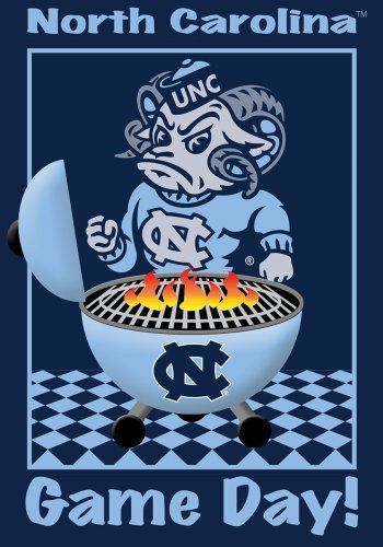 University of North Carolina - UNC Game Day - Garden Size 12 Inch X 18 Inch Decorative Flag/Banner by Belle Rose Collection. $15.00. 12 Inch X 18 Inch Garden Size Flag. Great Detail - Vibrant Colors. Mildew Resistant. Durable Poly-Nylon Blend. Fire up the Grill! It's Game Day. Root your team to Victory with this great flag as you tailgate, parade or hang in front of your home and show your pride. 12 Inch x 18 Inch Garden Size Durable Decorative Banner.. Save 25%!