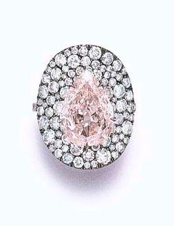 "A COLORED DIAMOND ""BONNET"" RING, BY JARColors Diamonds, Jubilant Jewelry, Diamonds Rings, Diamonds Stones Jewelry, Art Deco Diamonds, Fashion Accessories, Diamonds Bonnets, Jars Jewels, Colored Diamonds"