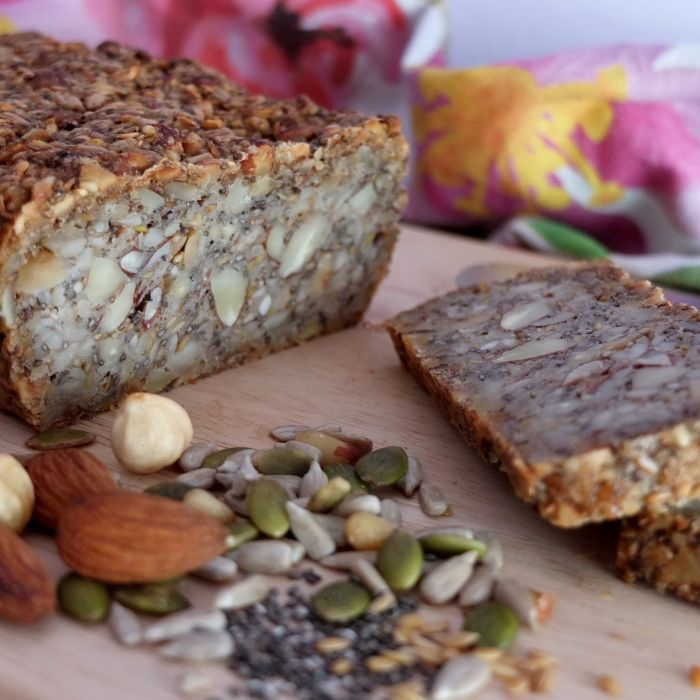 Gluten-free seed and nut bread #superfoodbread #glutenfree #seeds #nuts #bread