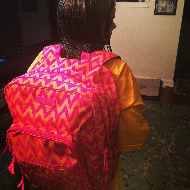 My new Vera Bradly back pack