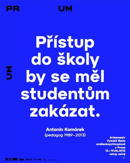 Prague Academy of Arts, Architecture and Design (umprum.cz) identity by Stepan Malovec (designair.eu)