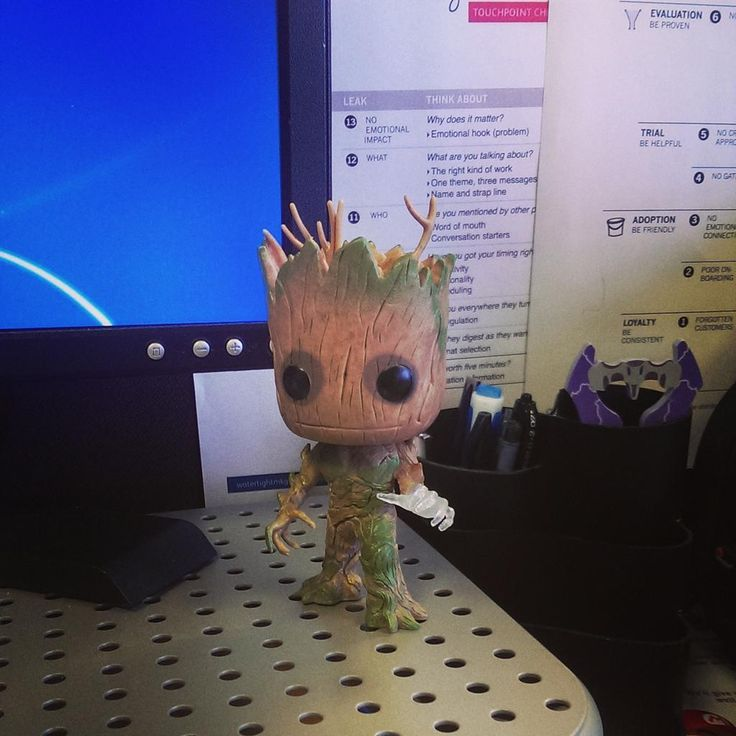 #Lootcrate Limited Edition Groot desk buddy #GotG #marvel #iamgroot