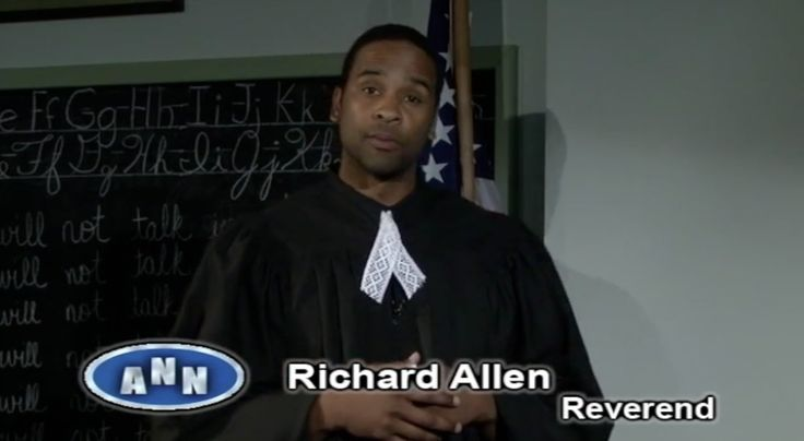 AME Church Founder Richard Allen 1787 --> http://www.youtube.com/watch?v=2MIK5-UmMiA