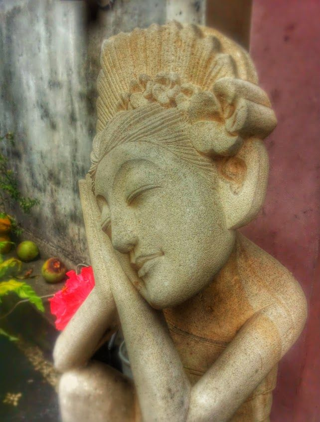 Peaceful ~ balinese statue on a family compound in Ubud