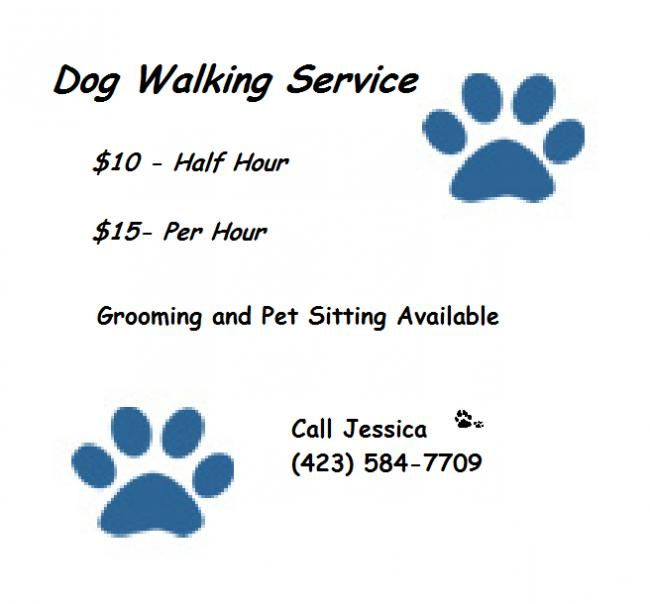 Dog Walking Service  undefined 864 grove circle nw, Cleveland, TN  12:00pm-8:00pm (423) 584 7709  Quality dog walking service  also offering in home grooming and pet sitting  prices start at :  $10- per half hour  $15- per hour - See more at: http://www.insideyourneighborhood.com/business_listing.php?id=1243808#sthash.mNcN2ww9.dpuf