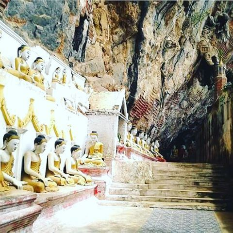 Kaw goon Cave, Hpa an Myanmar.    #instatravel #myanmar #burma #holiday #asia #southeastasia #bestvacations #cave #wall #cravings #igtravel #igers #travelgram #buddha #image #discover #tourism #tours #bestoftheday #touroperator #trip #travelling #adventure #art #culture #goodlifemyanmar #mybestvacation #traveltheworld #passionpassport