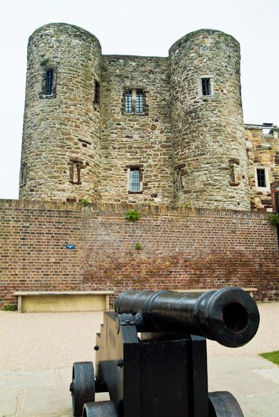 Ypres Tower, Rye, East Sussex, UK built between 1230-1250, it may have been part of a royal castle during the reign of Henry III. It was used as a prison for centuries, a soup kitchen for the poor, a mortuary and is now the home of the Rye Museum