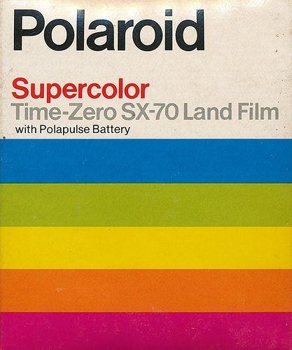 Polaroid film time zero - probably the 60's