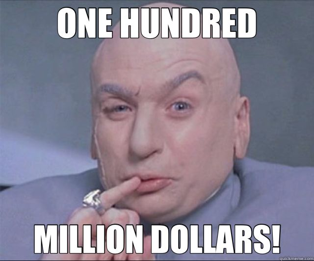 ONE MILLION DOLLARS - Dr. Evil - quickmeme