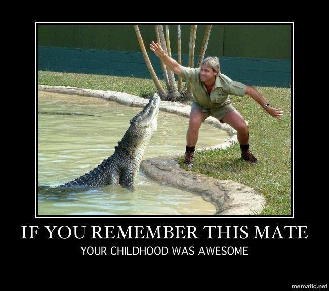 Memories of Steve Irwin The crocodile hunter #Childhood #Memories