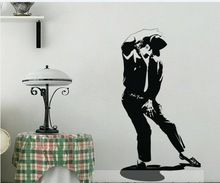 De levensduur van michael jackson art vinyl muurtattoo stickers woninginrichting handgemaakte decoratie kamer(China (Mainland))