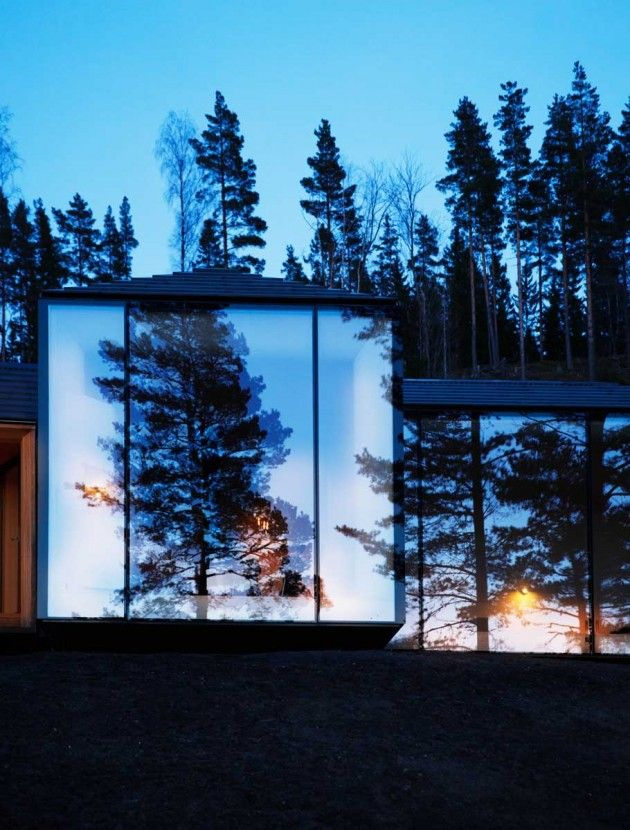 AtelierOslo have designed a cabin in the Korkskogen forests near Hønefoss, Norway.