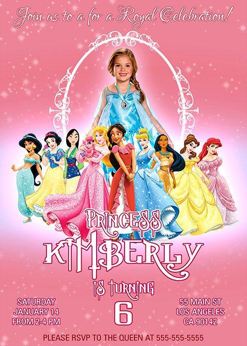 Princess Disney invitation Royal invitation by BogdanDesign