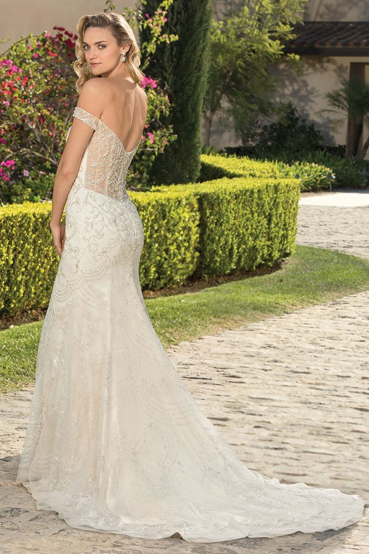 Try This Dress On At Baley S Bridal By Booking An Appointment Via Our Website Or By Calling 214 Wedding Dresses Beaded Casablanca Bridal Gowns Wedding Dresses