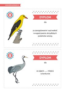 """Dzień Ptaków Wędrownych – pakiet edukacyjny: Karty """"Skrzydlaci posłańcy wiosny"""""""