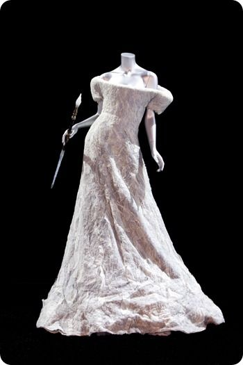 The White Witch's dress , object from The Chronicles of Narnia: The Exhibition.