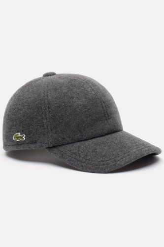 "Wool Lacoste cap.  My honey wears baseball caps ALL the time.  This is a little less ""burger and fries"" :)  Prob hot in the summer though..."