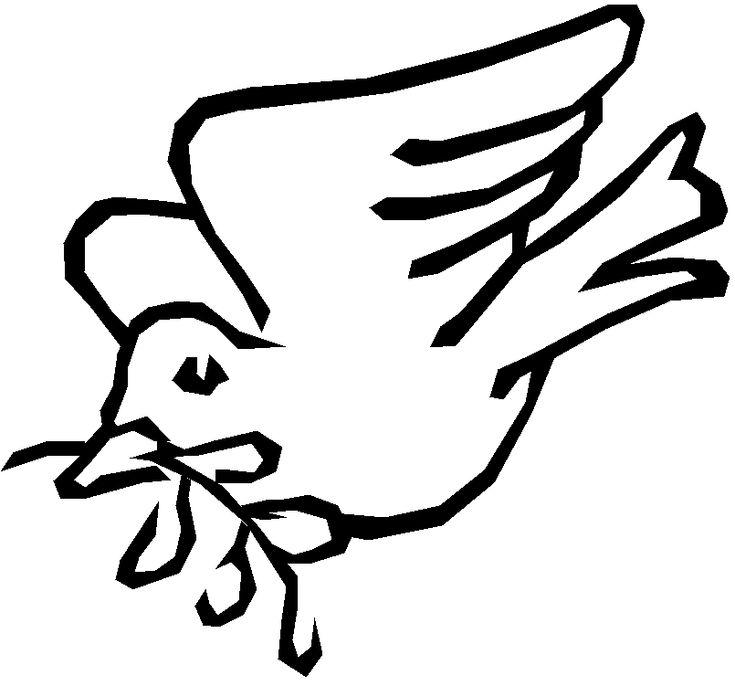 Peace Dove Template - AZ Coloring Pages