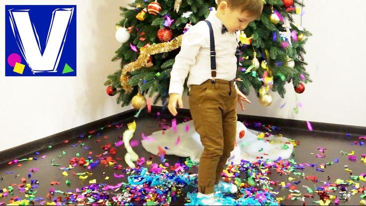 Сегодня мы взрываем новогодние хлопушки. Маленькие и большие хлопушки с конфетти и серпантином. Большая хлопушка с сюрпризом игрушкой. Играем с конфетти и се...
