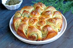 For a taste of Lebanese food, bake this za'atar pull-apart bread. It's delicious as is, but also pairs well with saucy dishes.