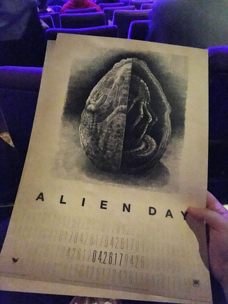 Poster I got from yesterday's 'Alien Day' at a local Cinema