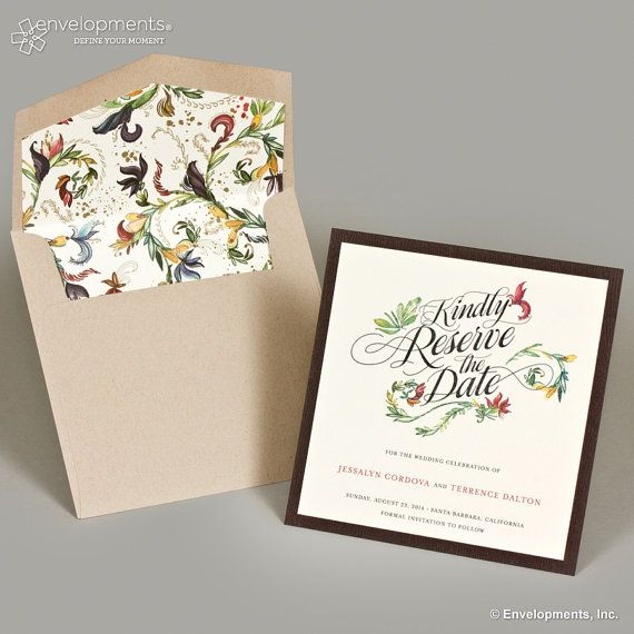 Garden Wedding Save the Date Vintage Garden Save the by SuitePaper