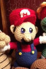 A personal favorite from my Etsy shop https://www.etsy.com/ca/listing/254082813/super-mario-inspired-crochet-plush