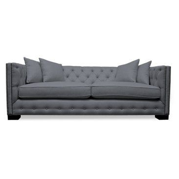 $2800 Check out this item at One Kings Lane! Carrie Tufted Sofa, Gray