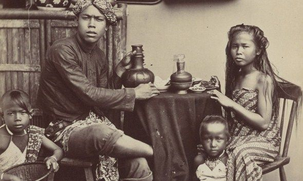 Indonesia ~ Family life in 19th century Java