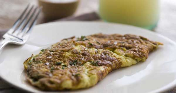... Fresh Herbs French Omelet (parsley, chives, and Gruyere or goat cheese