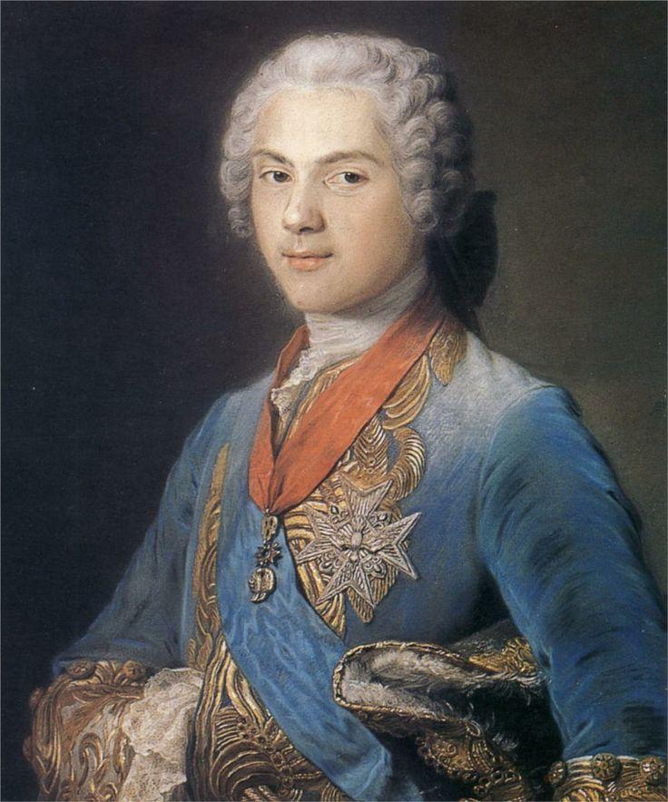 Louis of France, Dauphin, son of Louis XV, by Maurice Quentin de La Tour.