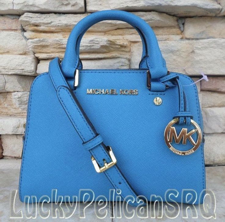 a42485e672fa ... sale michael kors small mini summer blue jet set satchel crossbody bag  saffiano nwt 52558 b0b0c