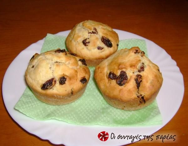 Σταφιδοψωμάκια Muffins #sintagespareas