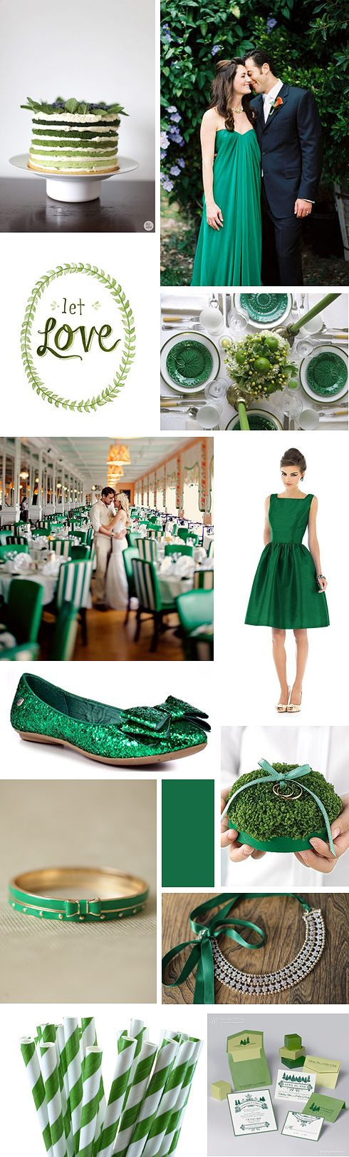 emerald wedding inspiration