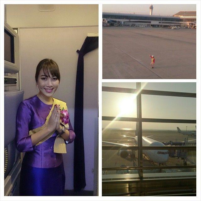 #Japan#airport #centrair#sunset #travel#airplane#aircraft#thaiairways#TG647#cabinattendant#タイ旅行#セントレア #中部国際空港 #タイ航空 #キャビンアテンダント#美人#ゴルフ合宿  昨日の#飛行機 です。 グズグスしてたら時間が無くなりました。余裕持って行動しろ!ですね(*_*)
