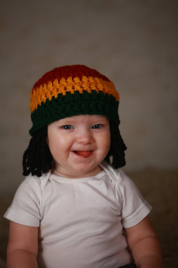 Baby Hats Rasta Beanie Baby Wig Photo Props Toddler Costume ... bec8c4a785f